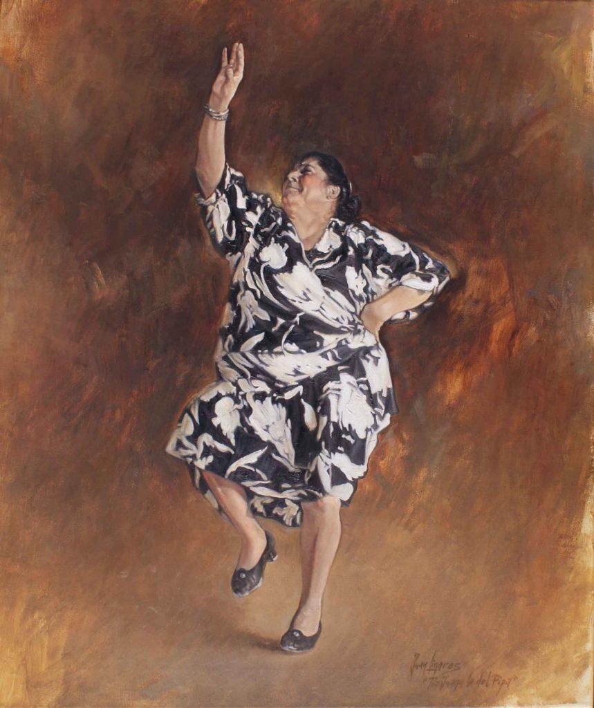 Juana la del Pipa bailando.