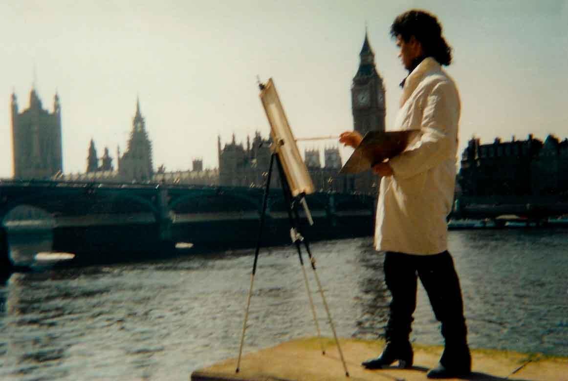 Pintando en Londres - 1987